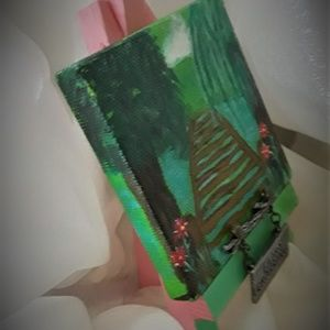 "BeaslePunk Art Original Accents - Fairy Crossing - mini canvas art original 3"" x 3"""
